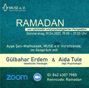 """Muse Wiesbaden Gesprächsabend 01.04.2021 """"Ramadan"""""""