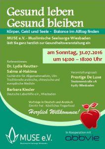 MUSE e.V. Muslimische Seelsorge Wiesbaden Gesundheitsveranstaltung 1