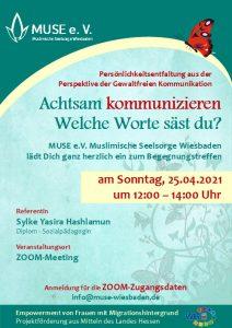 MUSE e.V. Muslimische Seelsorge Wiesbaden Begegnungsabend für Frauen 8