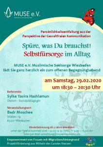 MUSE e.V. Muslimische Seelsorge Wiesbaden Begegnungsabend für Frauen 20