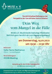 MUSE e.V. Muslimische Seelsorge Wiesbaden Begegnungsabend für Frauen 15