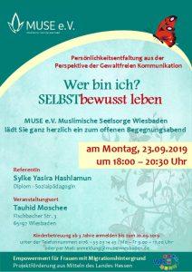 MUSE e.V. Muslimische Seelsorge Wiesbaden Begegnungsabend für Frauen 22