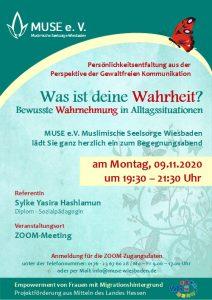MUSE e.V. Muslimische Seelsorge Wiesbaden Begegnungsabend für Frauen 18