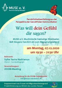 MUSE e.V. Muslimische Seelsorge Wiesbaden Begegnungsabend für Frauen 17